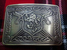 TC Men's Kilt Belt Buckle Saltire Lion Rampant Antique/Lion Rampant Kilt Buckles