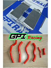 FOR HONDA CR125R/CR125 1990-1997 96 95 94 93 92 aluminum radiator &RED hose