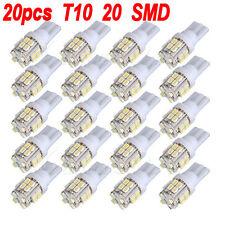 20X Bombilla T10 20 LED 1210 SMD 168 194 2825 W5W Blanco Iluminación Coche 12V