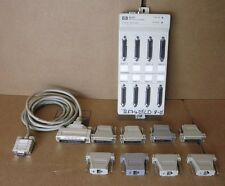 HP Agilent 5062-3054 MDP RS232-C FULL MODEM 8 Port With 8x Adapters & 1x Cable