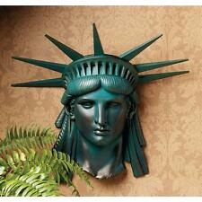 "19"" Statue of Liberty Head Mask Wall Sculpture Replica Reproduction"