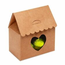 Mini Kraft Card House Shape Gift Box - Set of 10 Boxes - Wedding Party Favours