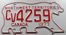 Nummernschild Canada Nortwest Territories 1977 in Bärenform. 12711.