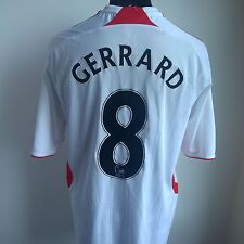 LIVERPOOL 2007 AWAY #8 GERRARD ADIDAS FOOTBALL SHIRT JERSEY SIZE ADULT XL