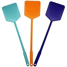 3 PC HEAVY DUTY FLY SWATTER PACK Plastic Bug Mosquito Insect Wasp Killer Catcher