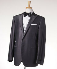 NWT $2295 CORNELIANI Three-Piece Silvery Gray Wool-Silk Tuxedo 42 R Suit