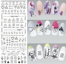 1 Sheet Letter Nail Art Water Decals Manicure Transfer Stickers DIY DS306