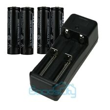 4pcs 3.7V 6000MAH 18650 Protected Li-ion Rechargeable Battery + UL Dual Charger