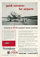 1945 Rectox Aircraft Engine Starter Ad Capital Airlines Airplane PCA Airport