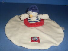 SEP5/ DOUDOU PELUCHE MOULIN ROTY CANARD PLAT ROND BOUEE ROUGE P'TITS LOUPS  MER
