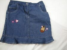 Girl size 6x Blue Jean denim skirt Horse floral Toffee Apple Back to School