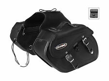 Oxide Rider Tek Leather Saddle Bags 2 x 10L Motorcycle Panniers