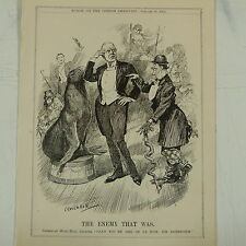 """7x10"""" punch cartoon 1912 THE ENEMY THAT WAS max beerbohm / music hall"""