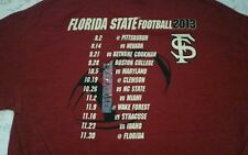Florida State Seminoles 2013 Schedule Eat Sleep All Day T-Shirt! New W/Org Tag!!