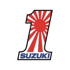 Sticker plastifié NUMBER ONE Suzuki GSR GSX-R Bandit SV Burgmann - 11cm x 8cm