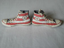 CONVERSE ALL STAR USA AMERICA AMERICAN STARS & STRIPES HI-TOP SHOES ,UK 8
