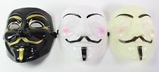 White Black Yellow V for Vendetta Guy Fawkes Anonymous Costume Halloween  Masks