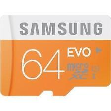 SAMSUNG EVO 64GB MicroSD Micro SDXC C10 Flash Memory w/adapter Galaxy S7 S5 S4