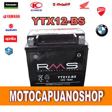 BATTERIA MOTO RMS YTX12BS 10Ah HONDA TRX TM FOURTRAX RECON 250 2006