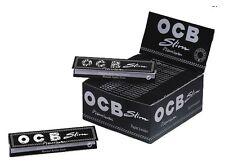 Caja de 50 librillos OCB Slim Premium Nueva Precintada Papel Para Fumar Paper