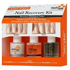 Nail Tek Nail Treatments - Nail Recovery Kit - 15ml Each - 55840 - 3pc