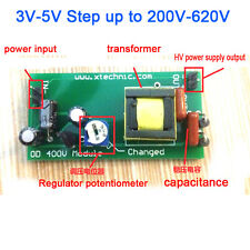 High Voltage DC-DC Boost Converter 3V-5V Step up to 200V-620V 220V 240V Power