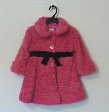 NEW AMERICAN WIDGEON Girl's Soft Plush FAUX FUR Coat Jacket Hot Pink 3T
