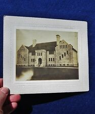 "1904 Antique Mounted Photograph: ""HIGH SCHOOL"", BERNARDSVILLE, NJ"