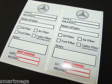 Set of 10 Oil Change Service Reminder Stickers for MB cars