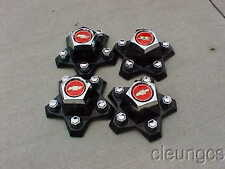 1982-1987 New El Camino Malibu Center Caps Chevy Bowtie Logo Set of 4 centers