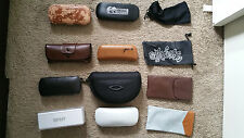 Sunglasses Eyeglass Used Case Cases Lot Persol Oakley DKNY Oliver Peoples Bolle