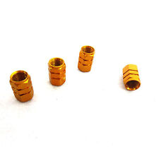 4pcs Gold Wheel Tyre Tire Valve Stems Air Dust Cover Screw Caps Lotus