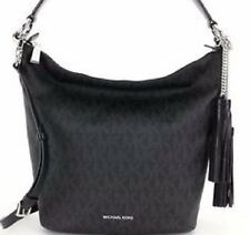 New Michael Kors Elana Large East West Convertible Shoulder Bag black Mono tote