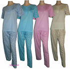 New Ladies Pyjamas Sets Floral Nightwear Short Sleeve PJ's Size S(8) to 2XL(22)