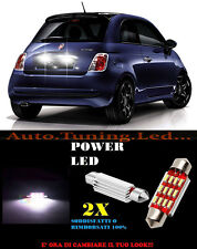 FIAT 500 2007+ LUCI TARGA 12 LED SMD BIANCO ALTA QUALITA' 36MM