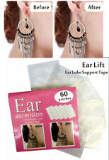 60 Pcs Ear Lobe Support Patch Tape for Stretched Lift hole Women Fashion Earring