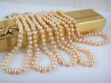 Wholesale 5pcs 8-9mm Pink Akoya Pearl Necklace 18""
