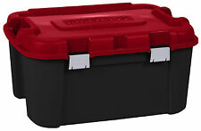 BIG 140 Ltr Mobile Plastic Storage Trunk Box Container Locker Wheels-Kids Toys!