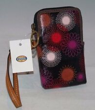 Fossil Key Per Carryall Wristlet REd Multi SL4689995 NWT