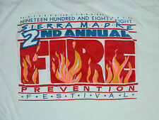 Vtg 1980s SIERRA MADRE FIRE PREVENTION FESTIVAL Fire Fighters T Shirt XL Fireman