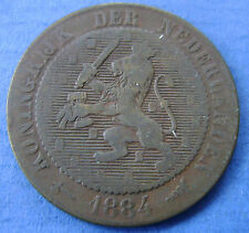 1884 Nederland - The Netherlands 2 1/2 cent, 2,5 cent Willem 3 KM# 108