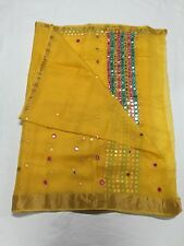 Beautiful Yellow Kota silk mirror work saree with blouse piece, premium quality