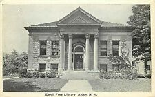 Vintage Postcard Ewell Free Library Alden NY Erie County