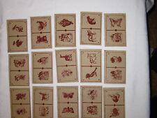alte Spielkarten Bilder-DominoPapier ca. 1920