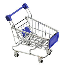 Supermarket Trolley Blue - Miniature - Shopping - Child's Play Toy Gift - BNEW