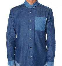 Insight Mind Fool Button Down Shirt (S) Vintage Blue
