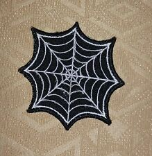 SPIDERMAN SPIDER WEB Black & White Iron/ Sew-on Embroidered Patch / Badge/ Logo