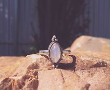Sterling Silver & Moonstone Ring, Boho, Gypsy, Hippie Jewellery