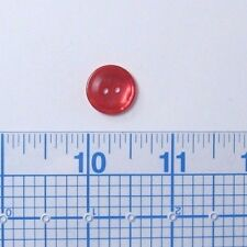 """110 Pieces Clear Orange 5/8"""" 2-Hole Buttons - B35O"""