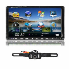 "Camera+Double 2 Din 7"" In Dash Stereo Car DVD Player Bluetooth Radio iPod TV SD"